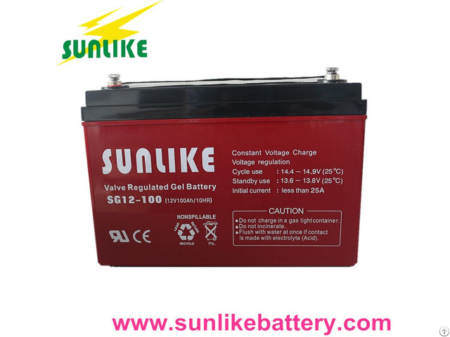 Solar Gel 12v100ah Deep Cycle Battery For Power Backup