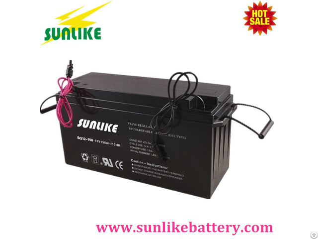 12v150ah Deep Cycle Solar Power Gel Battery For Emergency System