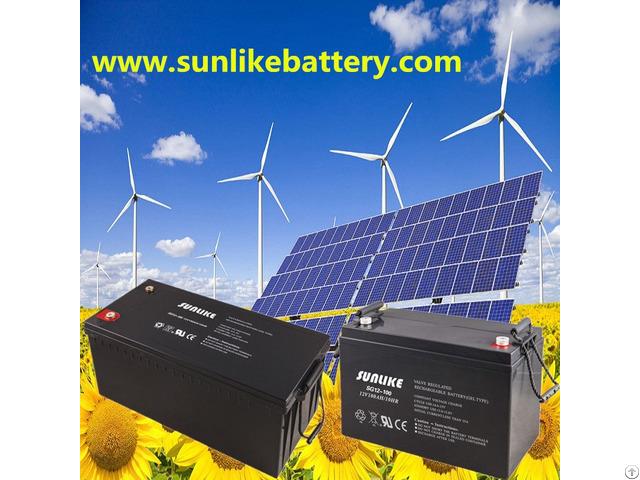 Deep Cycle 12v200ah Lead Acid Solar Battery For Power Ups