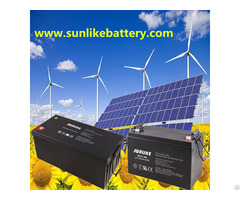 Deep Cycle 12v200ah Lead Acid Solar Battery For Power Ups
