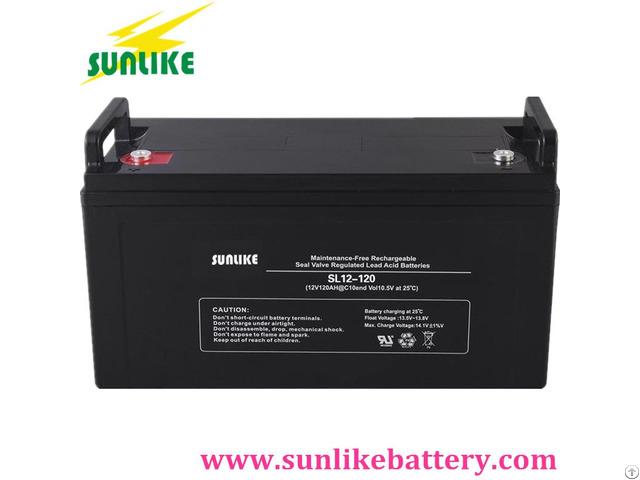 Deep Cycle Lead Acid Solar 12v120ah Ups Battery For Power Storage