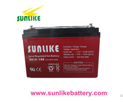 Solar Gel 12v100ah Deep Cycle Battery For Power Backup