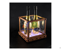 Antique Rusty Effect 4 Bottles Champagne Led Ice Bucket