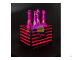 Champagne Led Ice Bucket With Bars