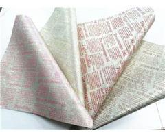 "Bh190912 42 Shining Glitter Newspaper Pattern Leather 0 6mm 54"""