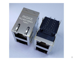 Ykj 802109ndj=xfatm9 Stkvdgy2 4 2 Port 100 Base T Through Hole Rj45 Ethernet Connectors