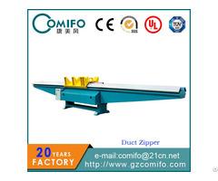 Duct Zipper Seam Closing Machine