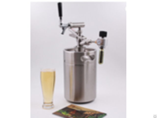 5l Stainless Steel Beer Keg With A S Type Spear And Coupler