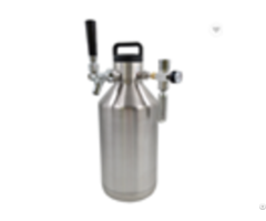 Classic Stainless Steel 128oz Water Bottle Or Called It 128 Oz Beer Growler