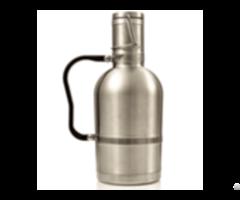 The Custom Designed 2l Stainless Steel Vacuum Insulated Beer Growler Keg