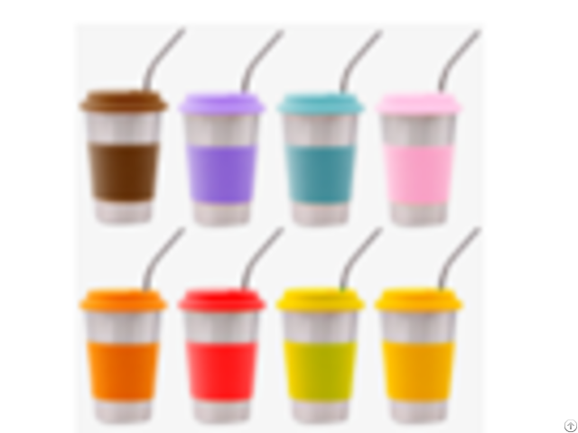 Function Single Wall 8oz 12oz 16oz Reusable Straw Stainless Steel Water Cup