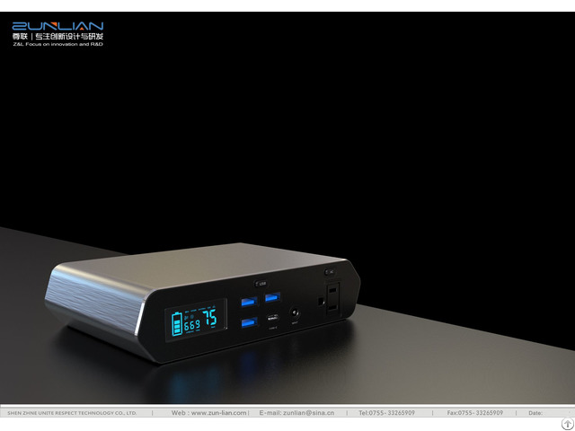 148wh 40 000mah Portable Power Station Solar Generator Ac Output Dc Usb Typec 45pd