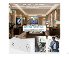 Bd 08 Wifi Plug Socket Us Power Outlet With Usb