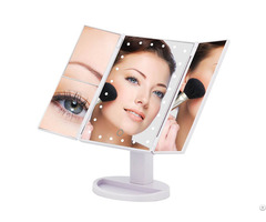 Top Sale Trifold 10x Magnifying Cosmetic Led Makeup Mirror
