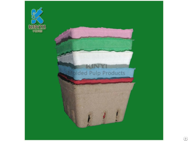 Customized Paper Pulp Molded Fruit Packaging Box