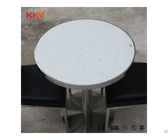 Artificial Stone Acrylic Solid Surface Dining Room Dinner Table Set