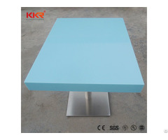 Factory Price Home Decorative Dinning Solid Surface Stone Tables With Chair Set