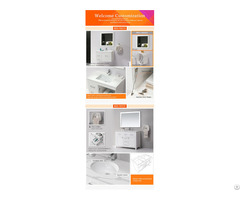 Modern Bathroom Wall Hung Design Solid Surface Cabinet Wash Hand Basin
