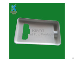 Paper Pulp Molded Cell Phone Packaging Tray Container