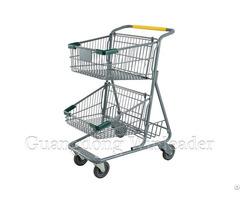 Yld Mt073 1f Two Basket Shopping Cart