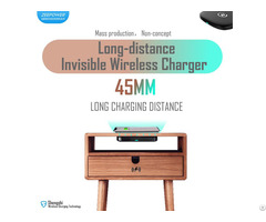 45mm Long Distance Qi Invisible Wireless Charger For Furniture