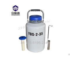 Aluminum Dewar Tank 2l Cryogenic Flask Semen 3 L Liquid Nitrogen Container