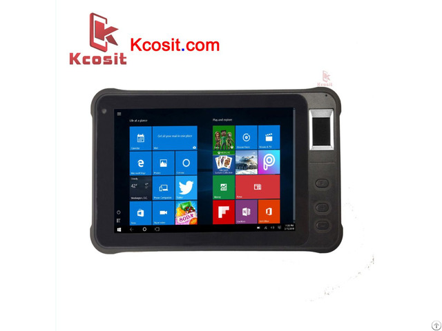 Rugged Windows Tablet Pc Fingerprint Reader Uhf Rfid Ip67 Waterproof 2d Barcode Scanner Pda