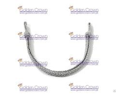 Military Silver Metallic Cap Cord