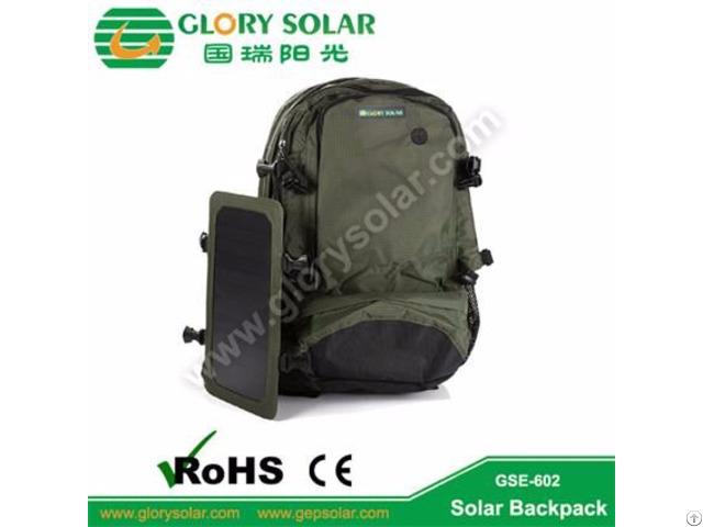 Solar Power Backpack For Camping Hiking Cycling Hunting Outdoor Use