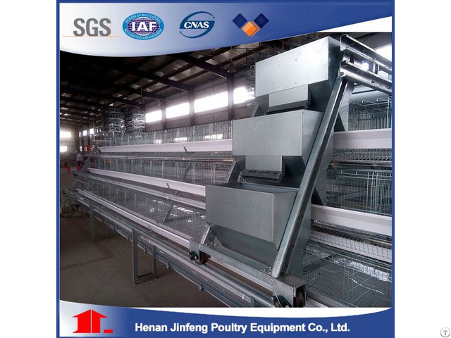 A Frame Layer Battery Cage System With Manure Belt