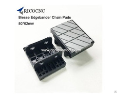 80x62mm Edgebander Conveyor Chain Pads For Biesse Edgebanding Machine
