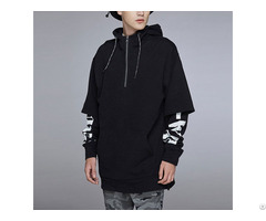 Fake Two Pieces Printed Oversized Hoodies