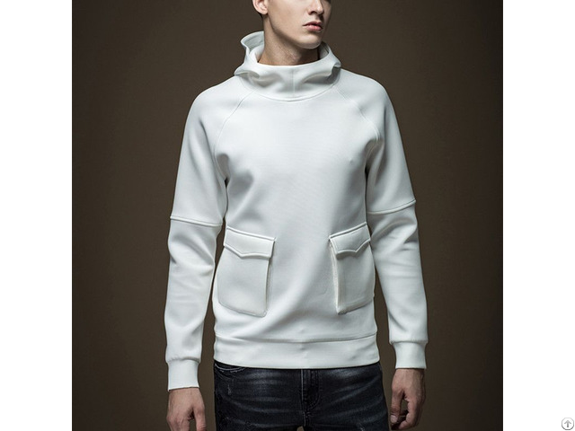 Wholesale Custom Solid Color Blank Cotton Pullover No Brand Name Hoodies For Men