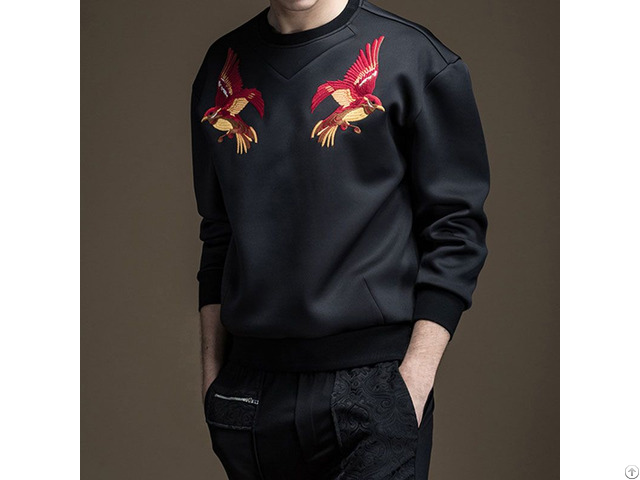 Custom Logo Printed Tech Fleece Mens Crewneck Fashion Oversized Sweatshirts