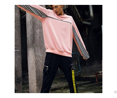 Hot Custom Zipper Design Blank Cotton Mens Crew Neck Fashion Oversized Streetwear Sweatshirts