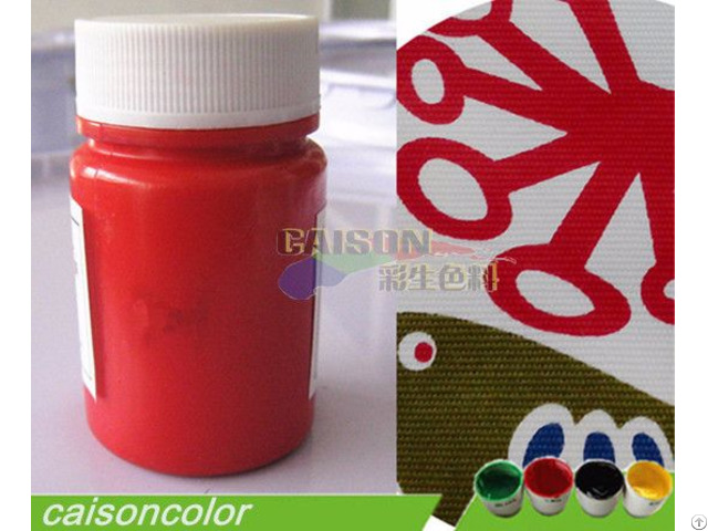 Red Pigment Paste For Fabric Printing With High Temperature Resistance