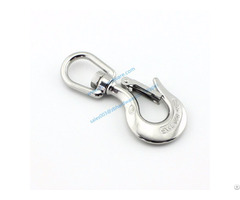 Heavy Duty Stainless Steel Cargo Snapcrane Lifiting Hook With Swivel Fork