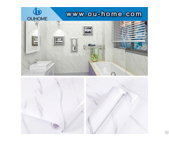 Modern 3d Design White Marble Wallpaper Sticker