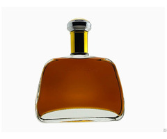 Beautiful Glass Empty Brandy Bottle