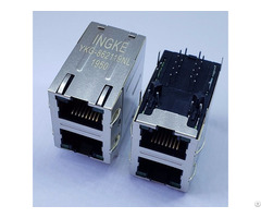 Ingke Ykg 862119nl Direct Substitute Te 1840855 1 2 Port 1000 Base T Rj45 Magnetic Jack Through Hole