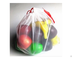Eco Friendly Reusable Produce Organic Polyester Mesh Bags For Vegetable And Fruit