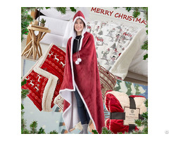 Soft Flannel Coral Fleece Sherpa Throws Adults And Children S Poncho Cape Cloak Blanket