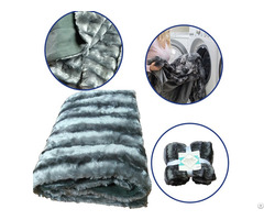 High Quality Winter Double Ply Two Layer Heavy Thickness Warmer Mink Pv Throw Faux Fur Blanket
