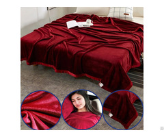 High Quality Supper Soft Solid Color Custom 100% Polyester Flannel Throw Blanket