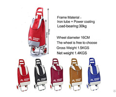 Hot Selling High Quality Supermarket Foldable Shopping Trolley Cart Bag With Wheels