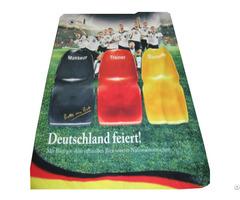 Advertising Creative Flag Banner Polar Fleece Blanket For Promotion