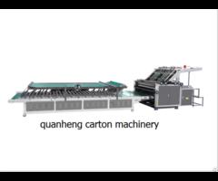 Qh Semi Auto Flute Laminating Machine