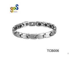 Tungsten Magnet Bracelet With Polished Shiny