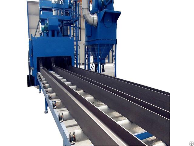 Metal Structure Dust Roller Conveyor Shot Blasting Machine