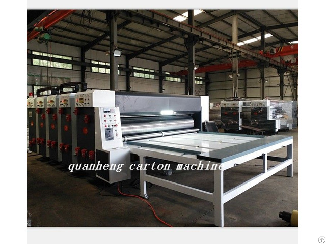 Qh Corrugated Cardboard Chain Feeder Flexo Printing Slotter Die Cutter Machine